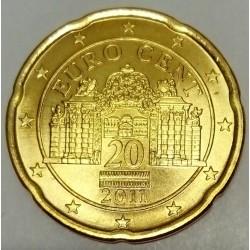 AUSTRIA - KM 3140 - 20 EURO CENT 2011 - BELVEDERE PALACE