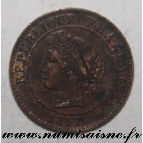 FRANCE - KM 826 - 1 CENTIME 1897 A - Paris - TYP CÉRÈS