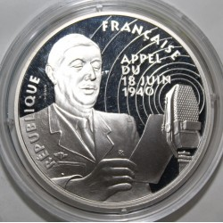 FRANCE - KM 1038 - FREEDOM FOUND - 100 FRANCS 1994 DE GAULLE - CALL OF JUNE 18 1940 - TRIAL COIN