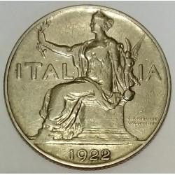 ITALIE - KM 62 - 1 LIRE 1922 A