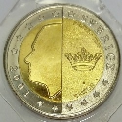 SWEDEN - X Pn8 - 2 EURO 2003 - GALLEY - TRIAL COIN