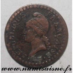 FRANCE - KM 646 - 1 CENTIME 1798 - YEAR 7 A - Paris - TYP DUPRÉ