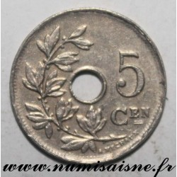 BELGIUM - KM 67 - 5 CENTIMES 1923 / 13 - Flemish legend - LEOPOLD 1st