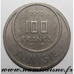 TUNISIA - KM 276 - 100 FRANCS 1950 - Muhammad al-Amin