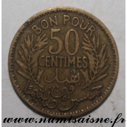 TUNISIA - KM 246 - GOOD FOR 50 CENTIMES 1926 - AH 1364