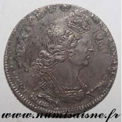 FRANCE - Gad 152 - LOUIS XIV - 1/4 ECU WITH PALMS 1695 P - DIJON
