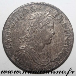 FRANCE - Gad 202 - LOUIS XIV - ECU WITH LONG HAIR 1653 A - Paris