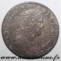 Gad 202 - LOUIS XIV - ÉCU A LA MÈCHE LONGUE - 1653 A - Paris