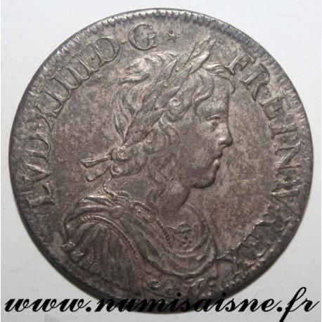 FRANCE - Gad 202 - LOUIS XIV - ECU WITH LONG HAIR 1653 A - Paris
