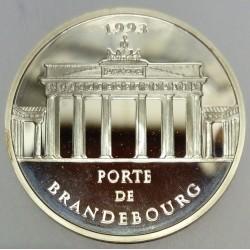 FRANCE - KM 1032 - 100 FRANCS / 15 ECUS 1993 - MONUMENTS AND SITES OF EUROPE - BRANDENBURG GATE