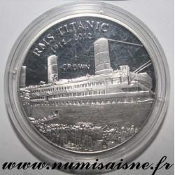 ISLE OF MAN - KM 1482 - 1 CROWN 2012 - TITANIC 1912