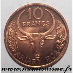 MADAGASCAR - KM 22 - 10 FRANCS 1996