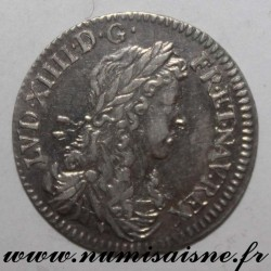 FRANCE - Gad 115 - LOUIS XIV - 1/12 ECU WITH YOUNG BUST 1662 & Aix - Bird