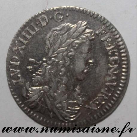 FRANCE - Gad 115 - LOUIS XIV - 1/12 ECU WITH YOUNG BUST 1662 & Aix - Bird