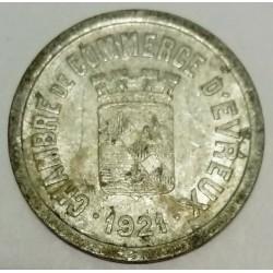 FRANCE - County 27 - EVREUX - 10 CENTIMES 1921 - CHAMBRE DE COMMERCE