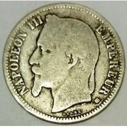 GADOURY 463 - 1 FRANC 1868 A TYPE NAPOLEON III tête laurée - KM 806.1