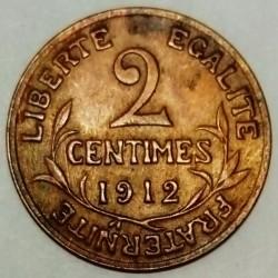 FRANCE - KM 841 - 2 CENTIMES 1912 - TYPE DUPUIS