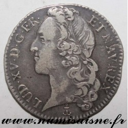 FRANCE - Gad 314 - LOUIS XV - 1/2 ECU WITH HEADBAND 1741 P - Dijon - Rare