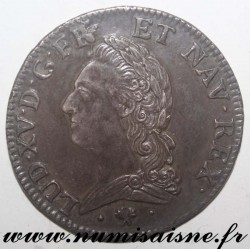 FRANCE - KM 323 - LOUIS XV - ECU WITH OLD HEAD 1773 L - Bayonne - Re-engraved hair