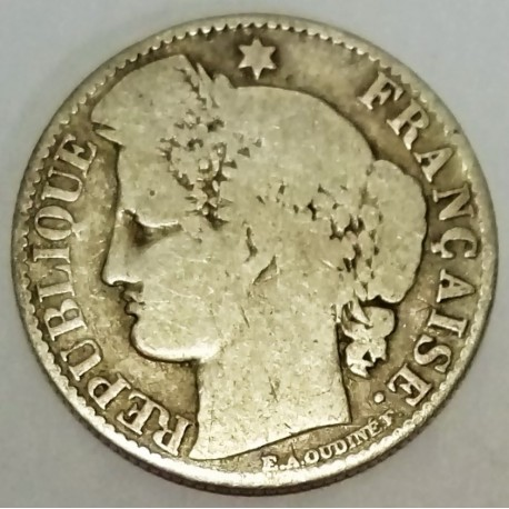 FRANCE - KM 834 - 50 CENTIMES 1871 A TYPE CERES