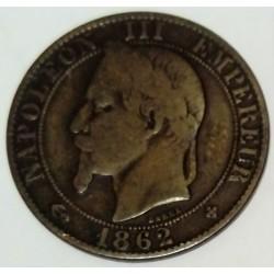 FRANCE - KM 197 - CINQ CENTIMES 1862 BB Strasbourg TYPE NAPOLEON III