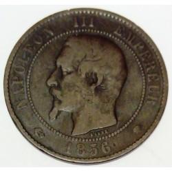FRANCE - KM 771 - 10 CENTIMES 1856 MA STRASBOURG TYPE NAPOLEON III