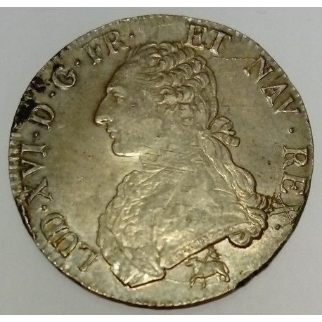 FRANCE - KM 564 - LOUIS XVI - 1774-1793 - ECU WITH OLIVE BRANCHES - 1789 B - ROUEN