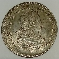 FRANCE - LOUIS XV - 1/6 ECU - 1721 C - CAEN