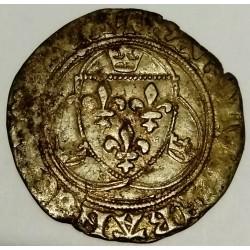Dup 587 - CHARLES VIII 1483-1498 - BLANC A LA COURONNE - POINT 11eme - St POURCAIN
