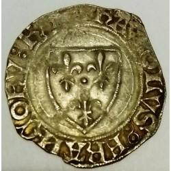 FRANCE - Dup 377 a - KARL VI - 1380-1422 - BLANC GUENAR - 11/09/1389 - SAINT-QUENTIN - 2nd MONETARY CREATION - POINT 17th