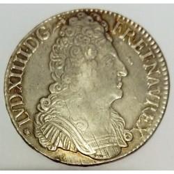 FRANKREICH - Gad 229 - LOUIS XIV - 1643-1715 - ECU MIT 3 KRONEN 1709 L - BAYONNE