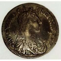 FRANCE - Gad 173 - LOUIS XIV - 1643-1715 - 1/2 ECU AU BUSTE JUVENILE - 1659 T - NANTES