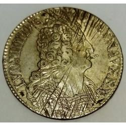 FRANCE - Gad 229 - LOUIS XIV - 1643-1715 - ECU WITH 3 CROWNS 1712 T - NANTES