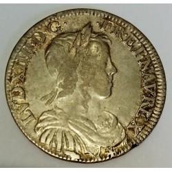 FRANCE - Gad 169 - LOUIS XIV - 1643-1715 - 1/2 ECU A LA MECHE LONGUE - 1649 B - ROUEN