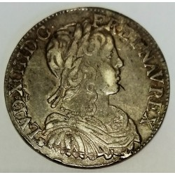FRANCE - Gad 169 - LOUIS XIV - 1/2 ECU A LA MECHE LONGUE - 1658 - 9 - RENNES
