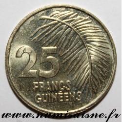 GUINEA - KM 60 - 25 FRANCS 1987