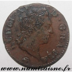 FRANCE - Gad 280 - LOUIS XV - SOL WITH OLD HEAD - 1772 D - LYON