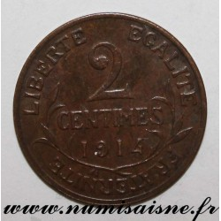 FRANCE - KM 841 - 2 CENTIMES 1914 - TYPE DUPUIS
