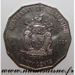 AUSTRALIA - KM 563 - 50 CENTS 2001 - CENTENARY OF THE FEDERATION - Western Australia