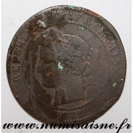 FRANCE - KM 815 - 10 CENTIMES 1872 A - PARIS - TYPE CÉRÈS