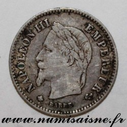 FRANCE - KM 808 - 20 CENTIMES 1867 A - Paris - TYPE NAPOLÉON III