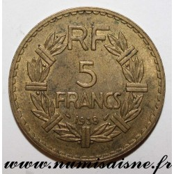 FRANCE - KM 888 - 5 FRANCS 1938 - TYPE LAVRILLIER