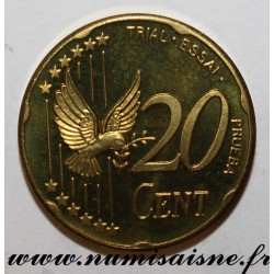 SWEDEN - X Pn5 - 20 CENT 2003 - BIRD - TRIAL COIN