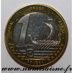 SWEDEN - X Pn7 - 1 EURO 2003 - GALLEY - TRIAL COIN
