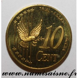 SWEDEN - X Pn4 - 10 CENT 2003 - BIRD - TRIAL COIN