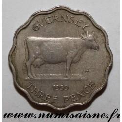 GUERNSEY - KM 18 - 3 PENCE 1959
