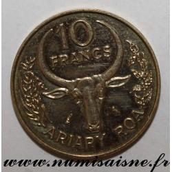 MADAGASCAR - KM 11 - 10 FRANCS 1970