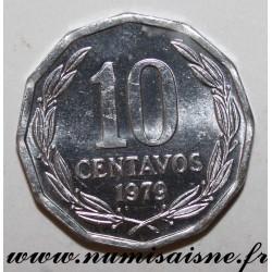 CHILE - KM 205a - 10 CENTAVOS 1979