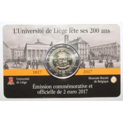 BELGIQUE - 2 EURO 2017 - UNIVERSITE DE LIEGE - Coincard