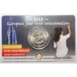 BELGIQUE - 2 EURO 2015 - ANNEE DU DEVELOPPEMENT